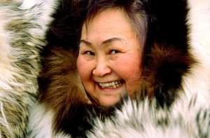 Smiling Inupiat Woman